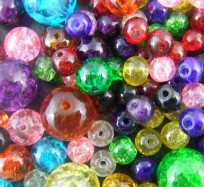 Crackle Glass Bead Mix