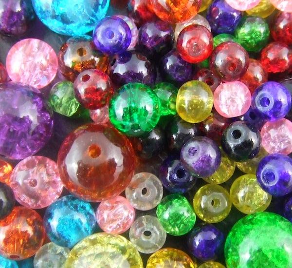 crackle glass beads uk