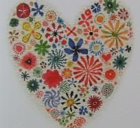 Greetings Card - Coeur en Fleurs