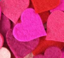 Felt Hearts - Pinks & Reds