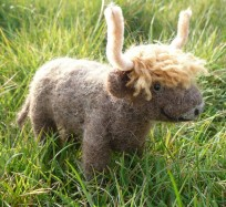 Needle Felting Kit - Highland Cow