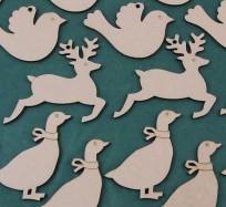 Reindeer, Goose, Dove