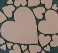 Hearts (No Holes) - Various sizes from