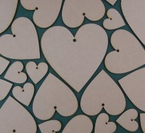Hearts (One Hole) - Various sizes from