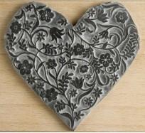 Printing Stamp - Flowery Heart