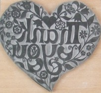 Printing Stamp - Thank You Heart