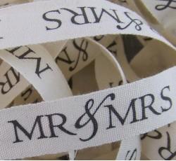 Wedding Ribbon - Mr & Mrs