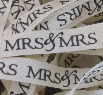 Wedding Ribbon - Mrs & Mrs