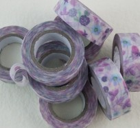 Pretty Sticky Tape - Purple Flowers