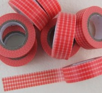 Pretty Sticky Tape - Red Gingham