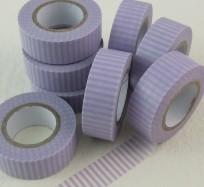 Pretty Sticky Tape - Purple Stripes